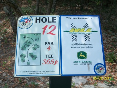 Joe Eakes Park, Main course, Hole 12 Hole sign