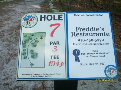 Joe Eakes Park, Main course, Hole 7 Hole sign