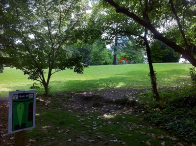 University of Richmond, Main course, Hole 18 Tee pad