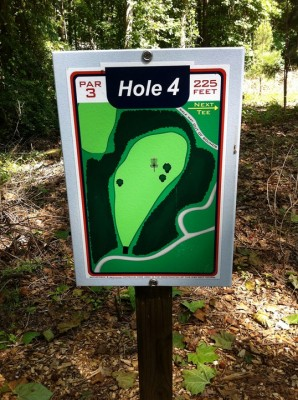 University of Richmond, Main course, Hole 4 Hole sign