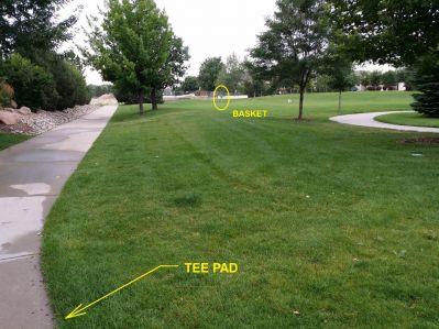 Louisville DGC, Main course, Hole 4 Tee pad
