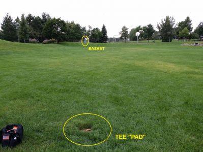 Louisville DGC, Main course, Hole 3 Tee pad