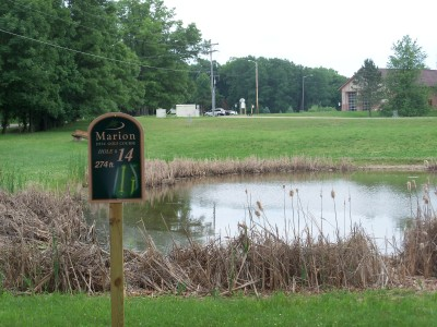 Marion Township Hall, Main course, Hole 14 Tee pad