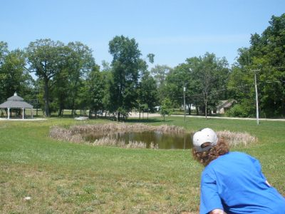 Marion Township Hall, Main course, Hole 14 Reverse (back up the fairway)