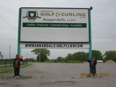 Ajax - Annandale Golf and Curling Club, Main course, Hole 1 Hole sign