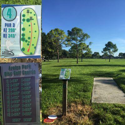 Azalea Park, Main course, Hole 4 Tee pad