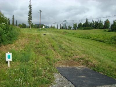 Hilltop DGC, Main course, Hole 6 Tee pad