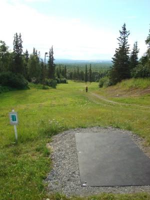 Hilltop DGC, Main course, Hole 4 Tee pad
