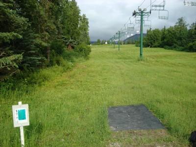 Hilltop DGC, Main course, Hole 5 Tee pad