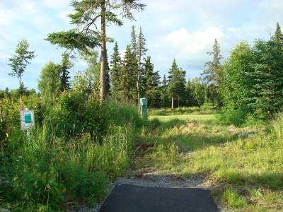 Hilltop DGC, Main course, Hole 17 Tee pad