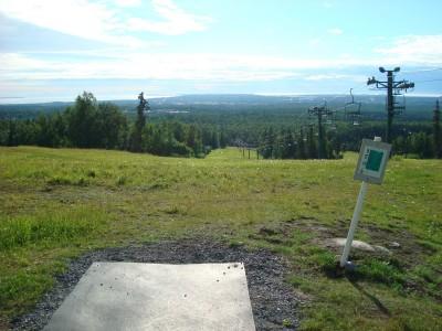 Hilltop DGC, Main course, Hole 10 Tee pad