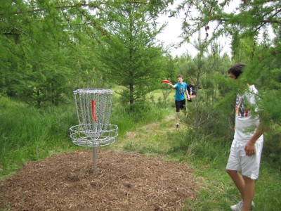 Hanson Hills Recreation Area, Grayling Rotary Pine Knoll DGC, Hole 4 Reverse (back up the fairway)