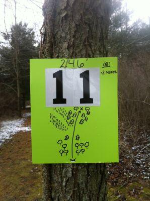 Pingree, KVJ Links, Hole 11 Hole sign