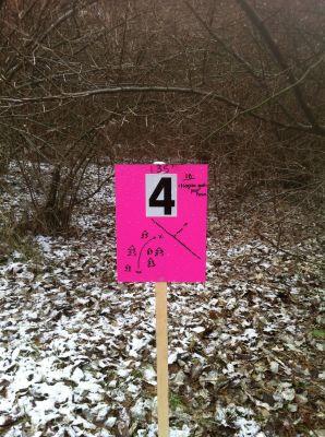 Pingree, KVJ Links, Hole 4 Hole sign