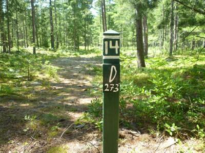 Superior Pines, Main course, Hole 14 Hole sign