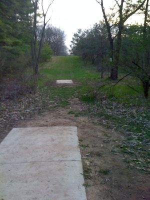 Zobel Park, Main course, Hole 4 Tee pad