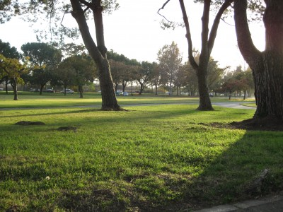 Whittier Narrows Park, Main course, Hole 15 Tee pad