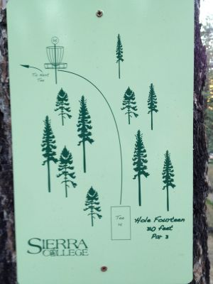Sierra College, Main course, Hole 14 Hole sign