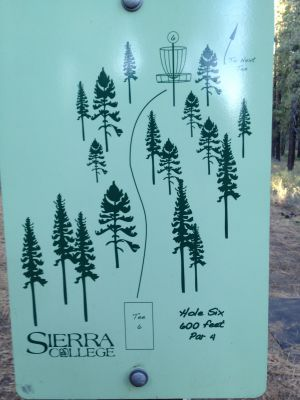Sierra College, Main course, Hole 6 Hole sign