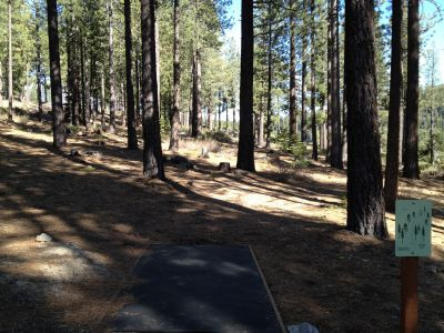 Sierra College, Main course, Hole 10 Tee pad