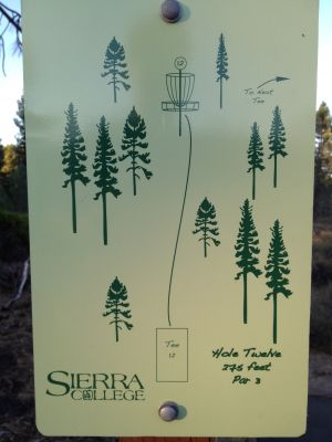 Sierra College, Main course, Hole 12 Hole sign