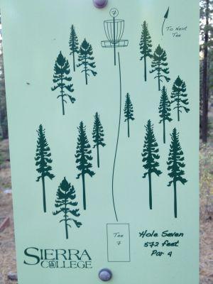 Sierra College, Main course, Hole 7 Hole sign