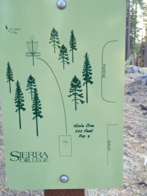 Sierra College, Main course, Hole 1 Hole sign