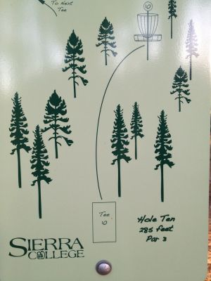 Sierra College, Main course, Hole 10 Hole sign