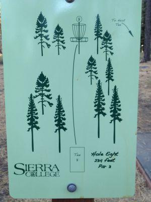 Sierra College, Main course, Hole 8 Hole sign