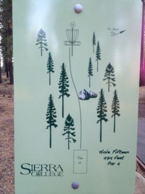 Sierra College, Main course, Hole 15 Hole sign