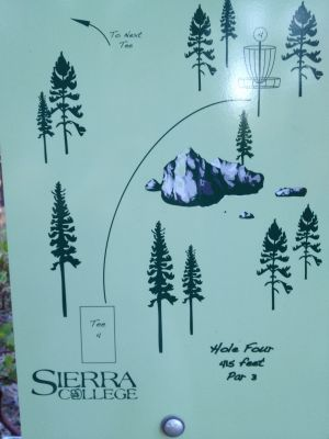 Sierra College, Main course, Hole 4 Hole sign