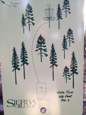 Sierra College, Main course, Hole 2 Hole sign