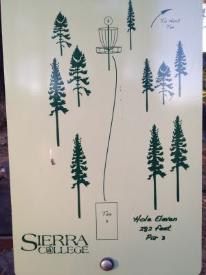 Sierra College, Main course, Hole 11 Hole sign