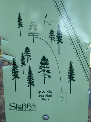 Sierra College, Main course, Hole 5 Hole sign