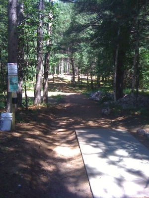 Brandy Lake Park, Main course, Hole 1 Tee pad