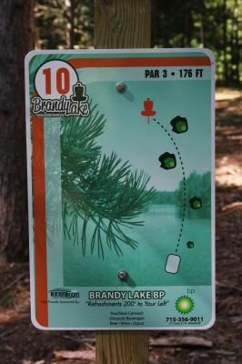 Brandy Lake Park, Main course, Hole 10 Tee pad