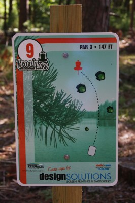 Brandy Lake Park, Main course, Hole 9 Tee pad