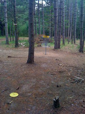 Brandy Lake Park, Main course, Hole 13 Short approach