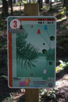 Brandy Lake Park, Main course, Hole 3 Tee pad
