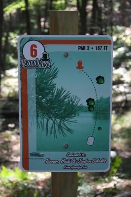 Brandy Lake Park, Main course, Hole 6 Tee pad