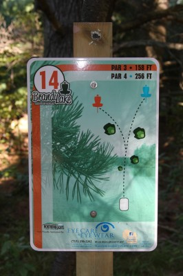 Brandy Lake Park, Main course, Hole 14 Tee pad