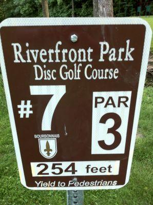 Riverfront Park, Main course, Hole 7 Hole sign
