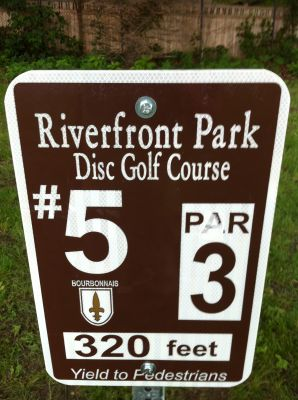 Riverfront Park, Main course, Hole 5 Hole sign