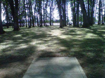 Clark Park, Main course, Hole 4 Tee pad