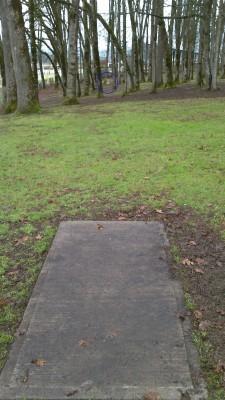 Clark Park, Main course, Hole 1 Long tee pad