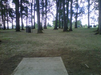 Clark Park, Main course, Hole 8 Tee pad