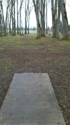 Clark Park, Main course, Hole 5 Long tee pad
