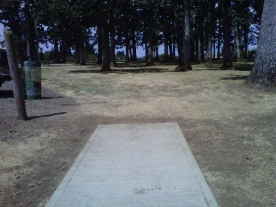 Clark Park, Main course, Hole 5 Tee pad