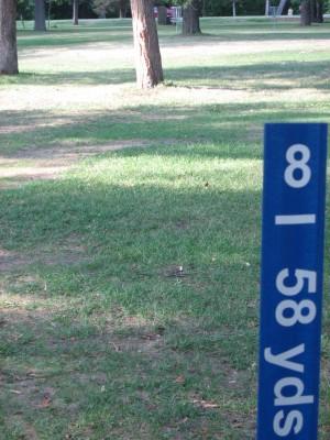 Wabun Picnic Area, Main course, Hole 8 Hole sign
