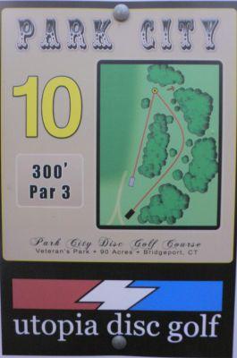 Veterans Memorial Park, Main course, Hole 10 Hole sign